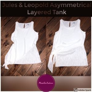 Jules & Leopold Asymmetrical Crêpe Layered Top XS
